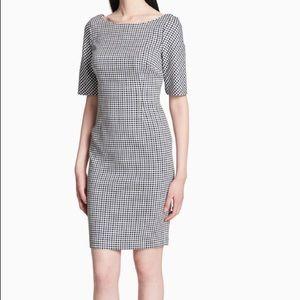 Calvin Klein Gingham Sheath Dress, NWT, Size 14